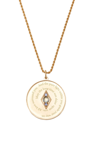 Medium venyx blue bespoke pices coin pendant and chain