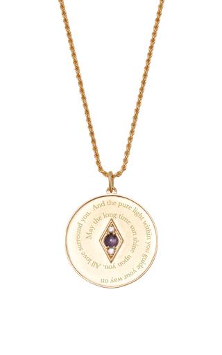 Medium venyx purple bespoke aries coin pendant and chain