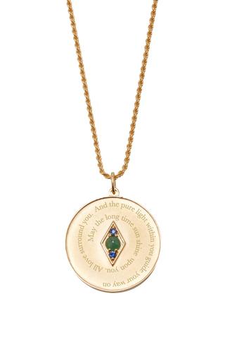 Medium venyx green bespoke taurus coin pendant and chain