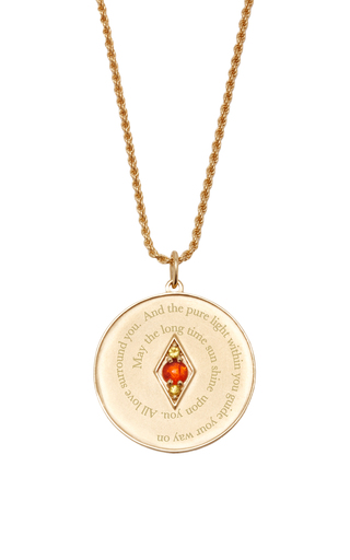 Medium venyx red bespoke gemini coin pendant and chain
