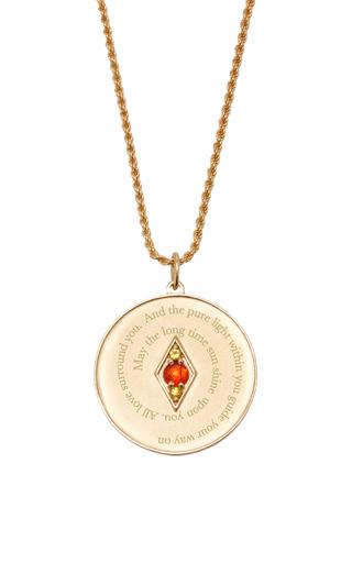 Medium venyx red bespoke gemini coin pendant and chain
