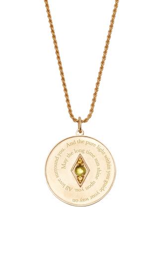 Medium venyx green bespoke leo coin pendant and chain