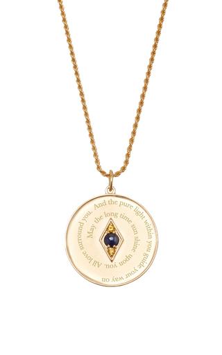 Medium venyx blue bespoke virgo coin pendant and chain