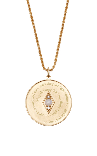 Medium venyx white bespoke libra coin pendant and chain