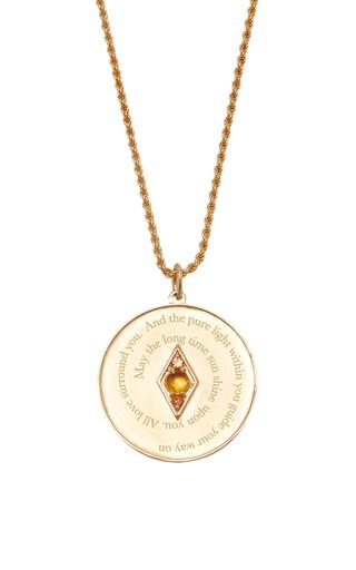 Medium venyx orange bespoke scorpio coin pendant and chain