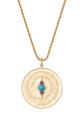 Medium venyx blue bespoke sagittarius coin pendant and chain