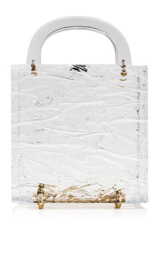 Medium l afshar neutral square leon crushed ice clutch