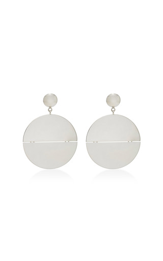 Medium agmes silver bertoldi sterling silver earrings