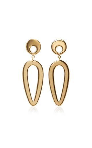 Medium agmes gold eva gold vermeil earrings