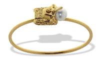 Medium completedworks gold south sea pearl tank bracelet