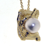 Medium completedworks gold south sea pearl tank pendant