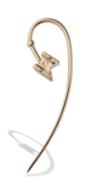 Medium completedworks gold tank hook earring single