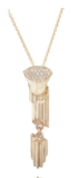 Medium completedworks gold pillar pendant