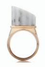 Medium completedworks gold incomplete column marble ring