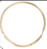 Medium completedworks gold pillar collar