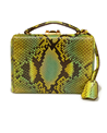 Medium mark cross green custom small grace python box bag 2