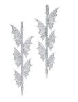 Medium stephen webster silver fly by night pave five wings long earrings