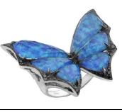 Medium stephen webster blue fly by night crystal haze large ring