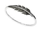 Medium stephen webster black magnipheasant pave open feather bracelet