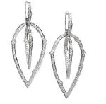Medium stephen webster silver thorn 3d hoop earrings