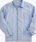 Medium sleepy jones blue henry pajama shirt end on end