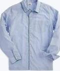 Medium sleepy jones blue henry pajama shirt end on end