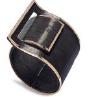 Medium fabio salini black bracelet fibbia in carbon fiber and gold