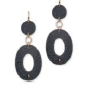Medium fabio salini grey earrings in galuchat