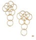 Medium fabio salini gold earrings cerchi in pink gold