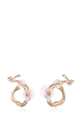Medium alice cicolini gold summer snow loop earrings