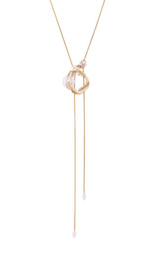 Medium alice cicolini gold summer snow loop necklace