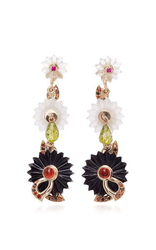 Medium alice cicolini black summer snow dark chandelier earrings