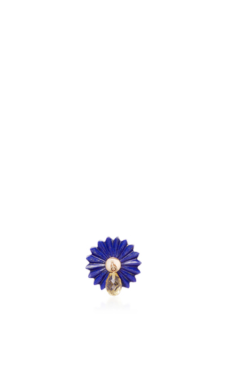 Medium alice cicolini blue summer snow blue drop single stud in lapiz lazuli