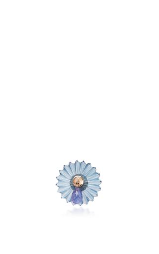 Medium alice cicolini blue summer snow blue drop single stud in blue topaz