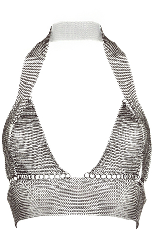 Medium fannie schiavoni silver halterneck top