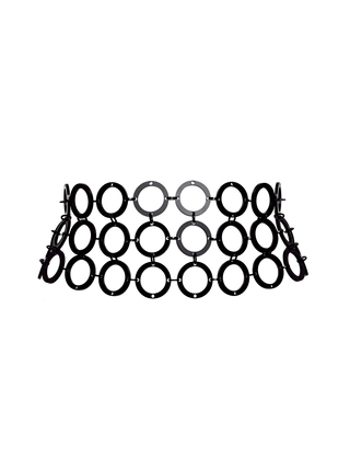 Medium fannie schiavoni black acrylic ring belt