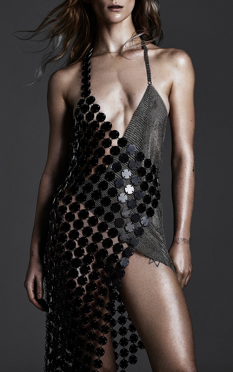 Scale And Metal Mesh Dress By Fannie Schiavoni Moda Operandi