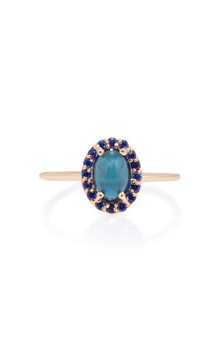 Medium marlo laz blue 14k gold sapphire and tourmaline ring