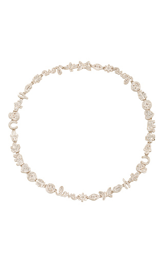 Medium sydney evan gold anniversary necklace