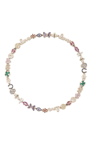 Medium sydney evan gold multi color anniversary necklace