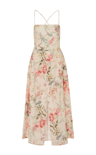 Medium zimmermann floral mercer floral print cotton blend dress
