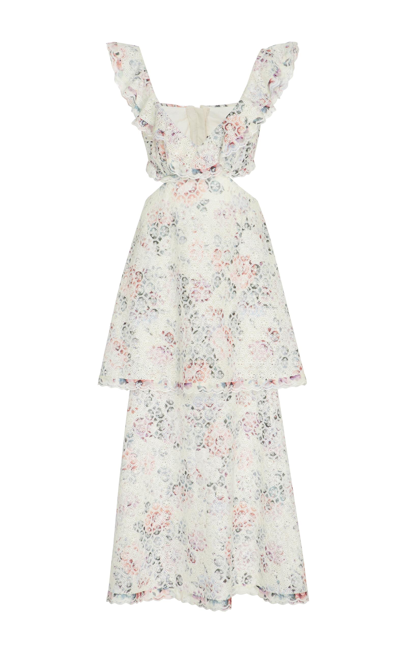 tiered cut out dress - White Zimmermann 64lSlxntil