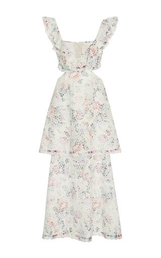 Medium zimmermann floral jasper honeycomb tier ruffled cutout dress