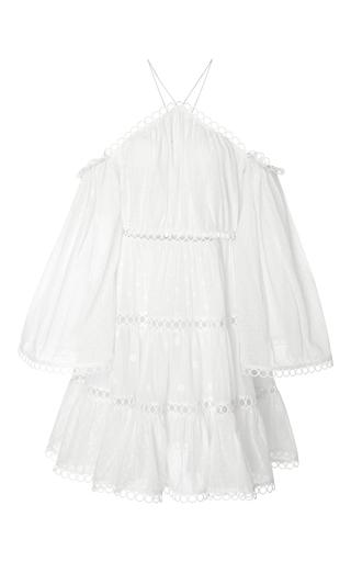 Medium zimmermann white jasper dot floating cold shoulder dress