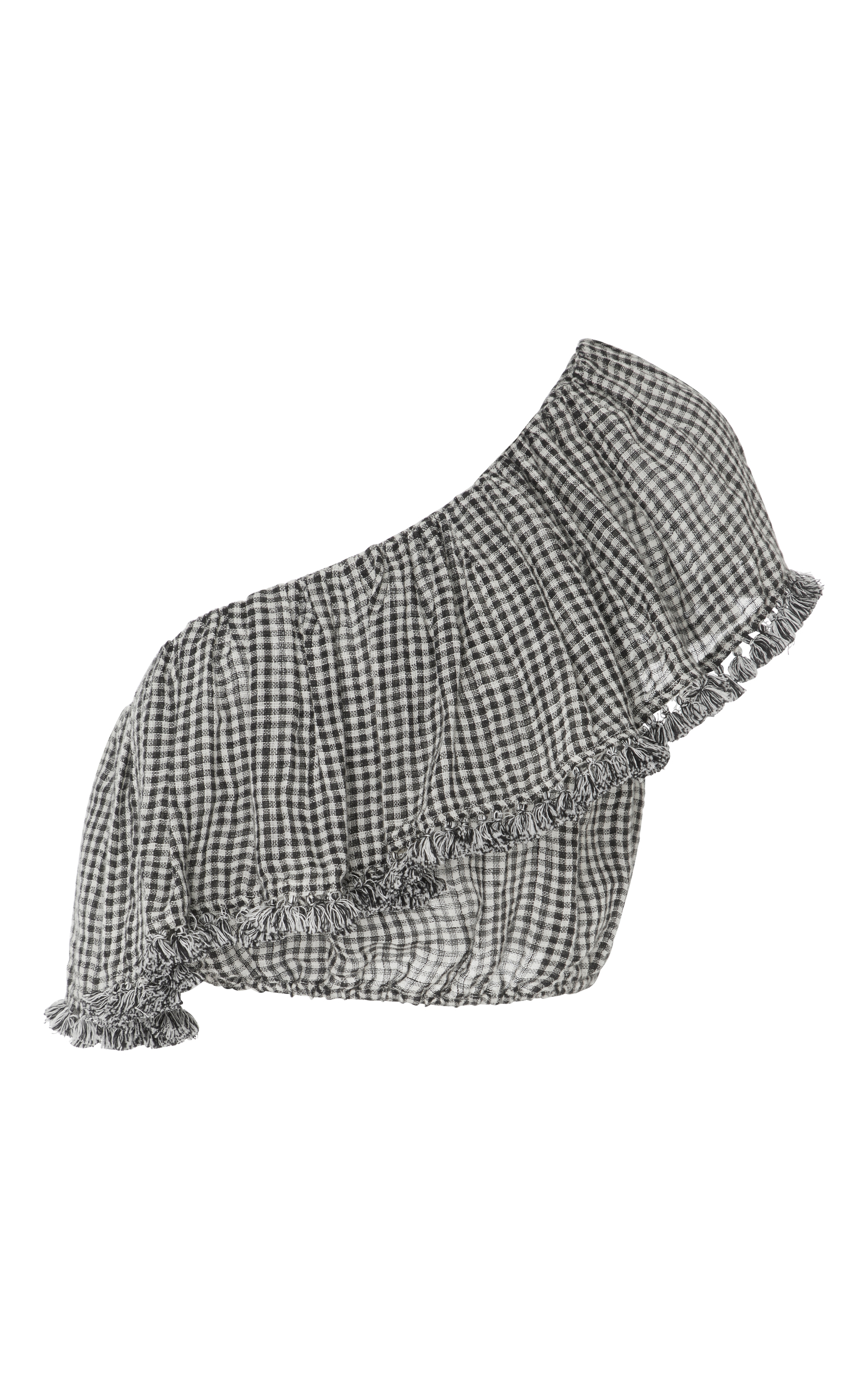 a64603092a3 ZimmermannParadiso Gingham One Shoulder Frill Top. CLOSE. Loading