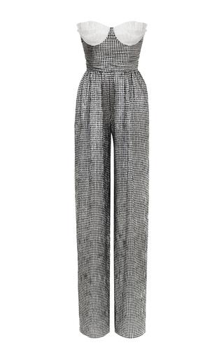 Medium rasario metallic bustier jumpsuit