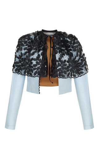 Medium rasario blue lace overlay jacket