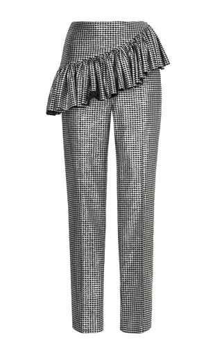Medium rasario metallic metallic ruffle waist pants