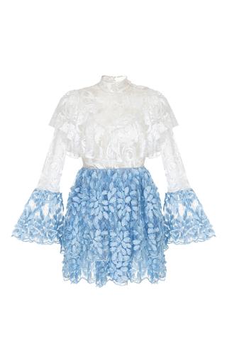Medium rasario multi ruffle lace mini dress