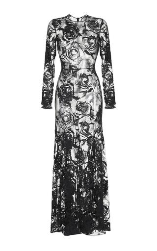 Medium rasario black long sleeve lace gown 2
